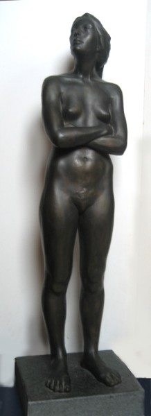 Pause: one third life size, bronze