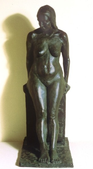 Leaning Figure: one third life size, bronze
