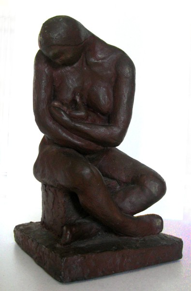Mother and Babe: bronze