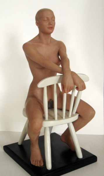 Seated Figure: intrinsically colored epoxy